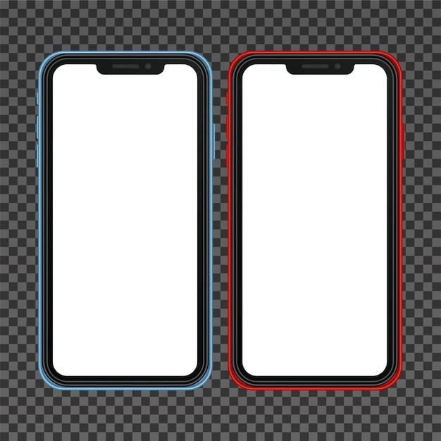 Realistic smartphone similar to iphone x Premium Vector