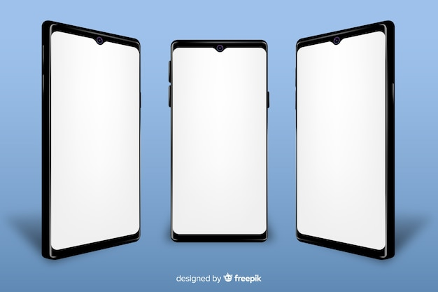 Realistic smartphone with mock-up Free Vector