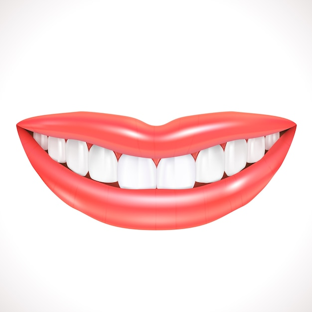 Realistic smile isolated Free Vector