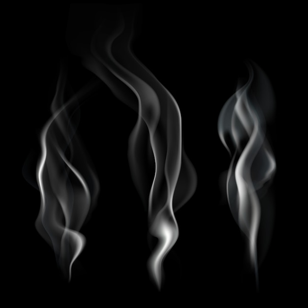 Realistic smoke illustration Free Vector