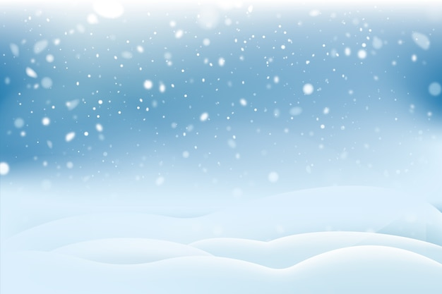 Realistic snowfall background concept Free Vector