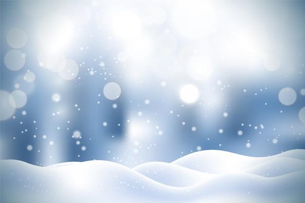 Реалистичный фон снегопада Бесплатные векторы