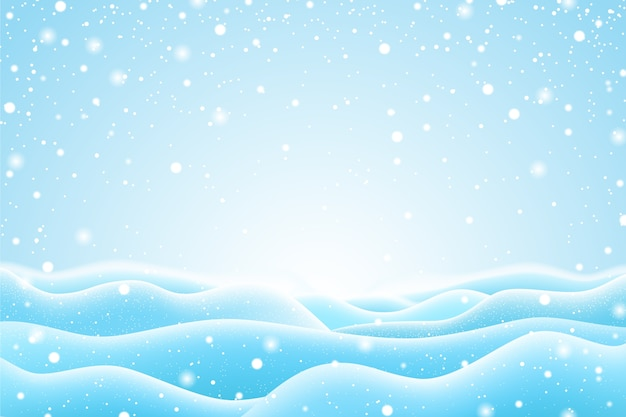 Realistic snowfall wallpaper design Free Vector