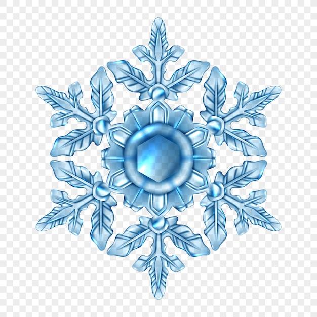 Composizione trasparente di fiocchi di neve realistici Vettore gratuito