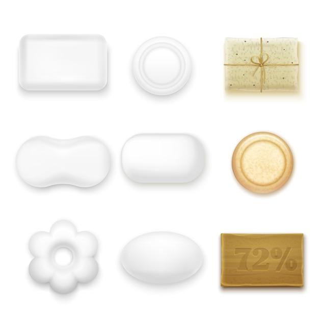 Realistic soap bars Free Vector