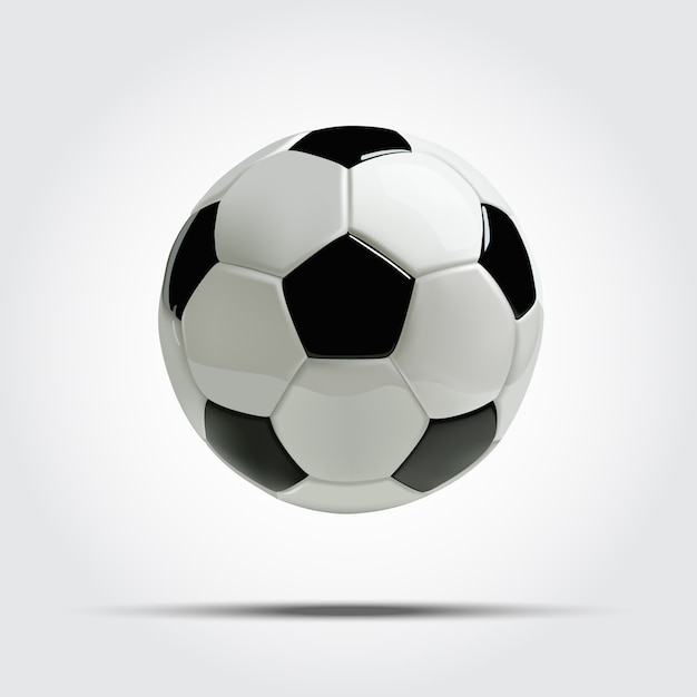 Realistic soccer ball or football ball. Premium Vector