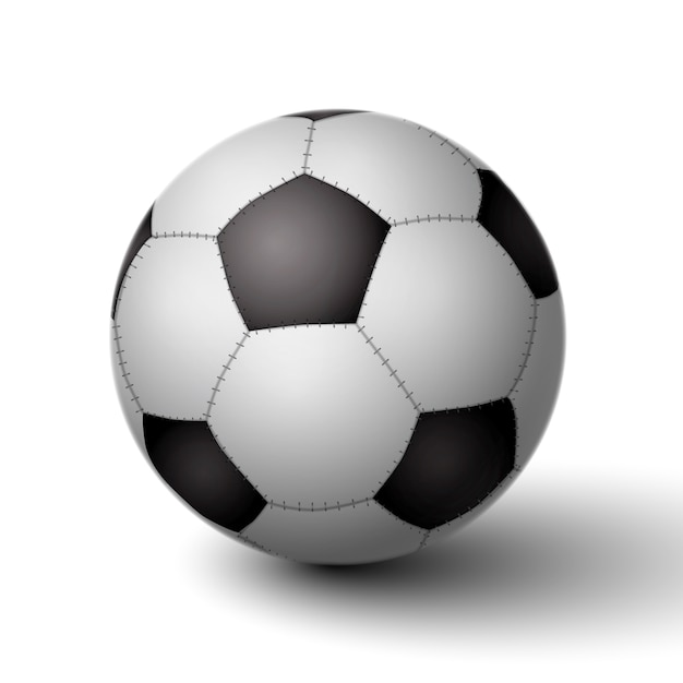 Realistic soccer ball for football icon isolated Free Vector