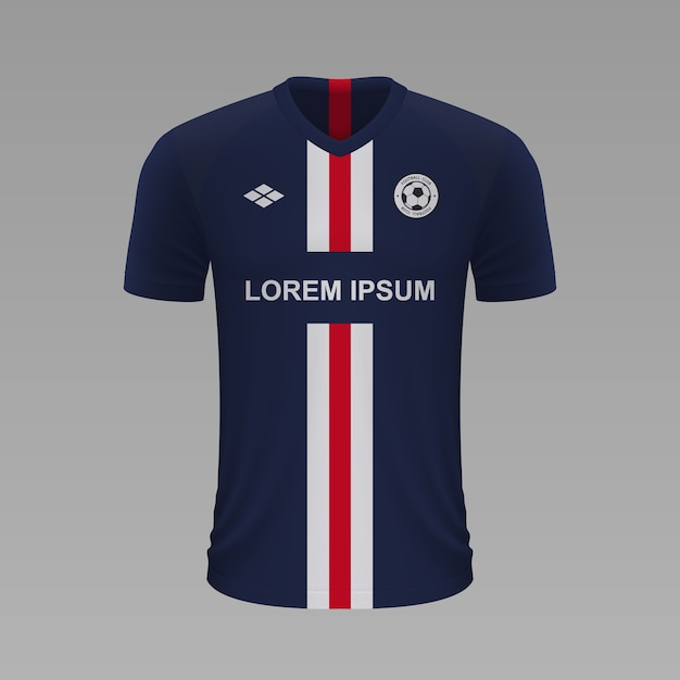 Premium Vector Realistic Soccer Shirt Paris Psg Jersey Template For Football Kit