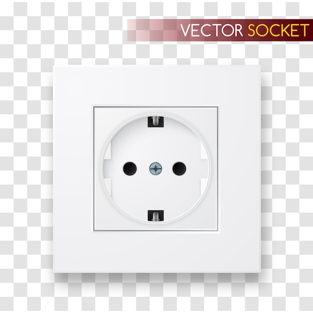 Realistic  socket. power outlet illustration. Premium Vector