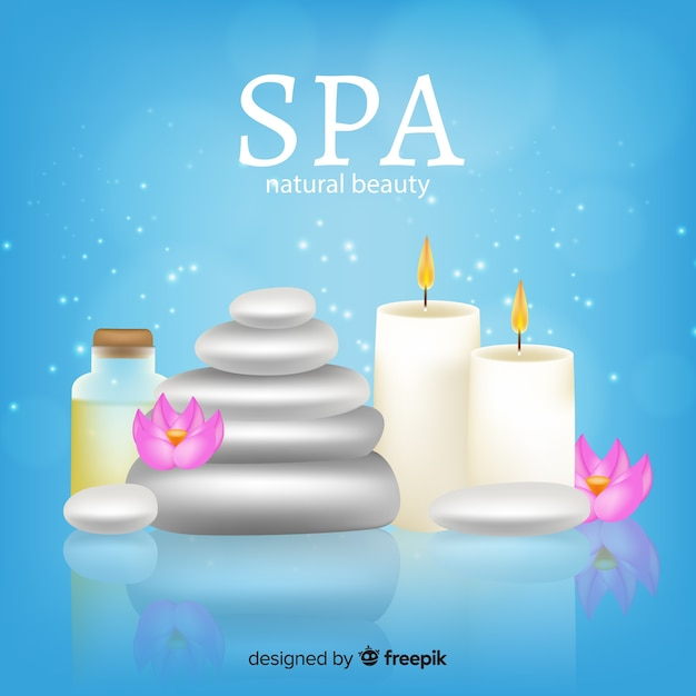 Realistic spa background Free Vector