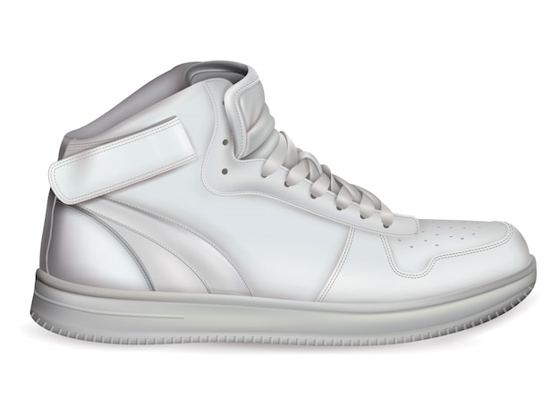 Реалистичная спортивная обувь Бесплатные векторы