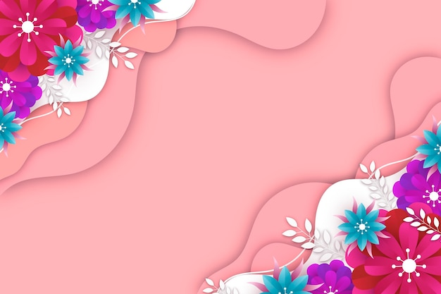 Realistic spring background Free Vector