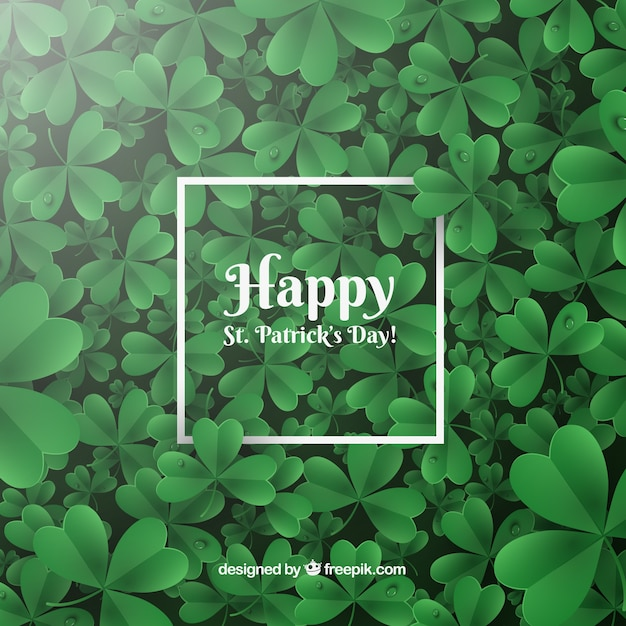 Realistic st. patrick's day background Free Vector
