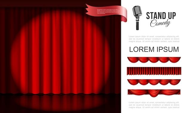 Realistico concetto di performance sul palco Vettore gratuito