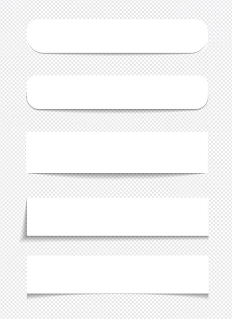 Реалистичные записки, изолированные с реальной тенью на белом фоне. квадратные напоминания на липкой бумаге с тенями. Premium векторы