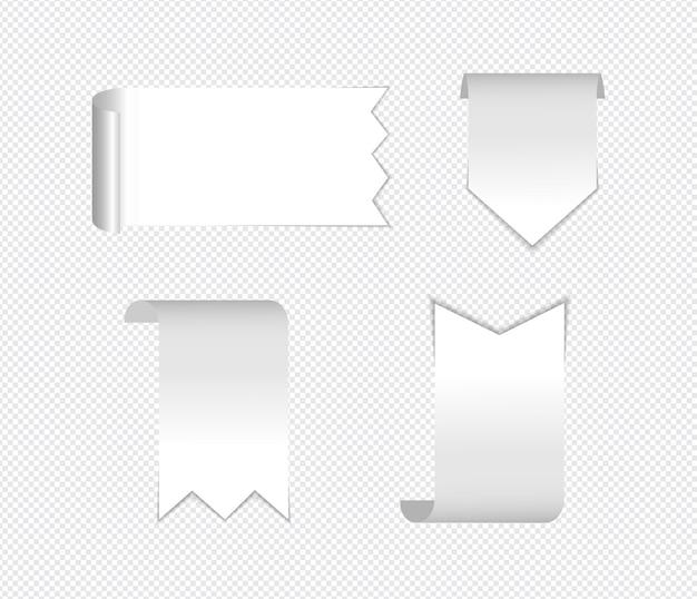 Реалистичные заметки, изолированные с реальной тенью на белом фоне. Premium векторы