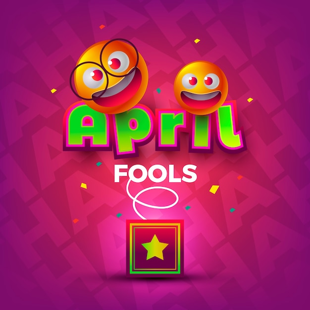 Realistic style april fools day Free Vector