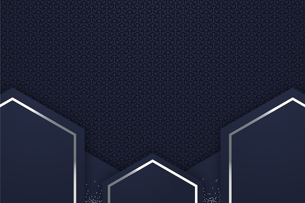Realistic style geometric shapes background Premium Vector