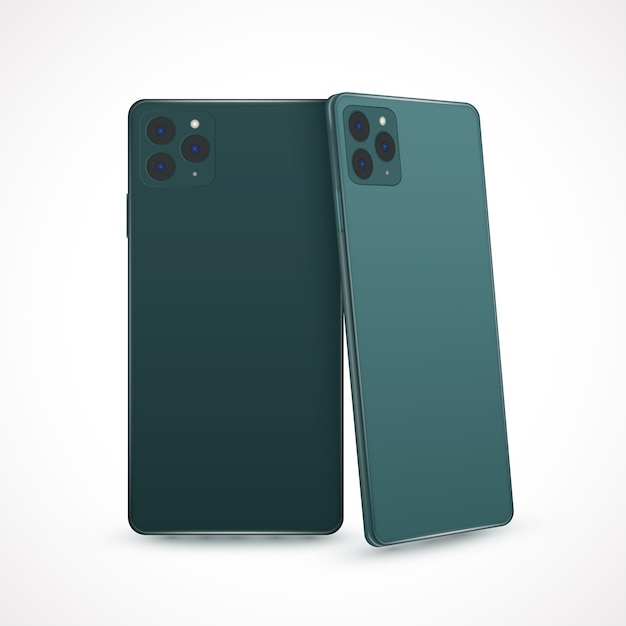 Realistic style for new smartphone model Free Vector