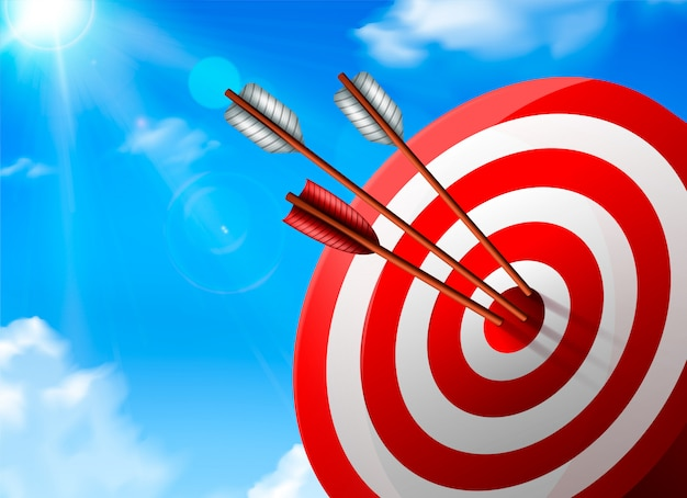 Realistic target composition Free Vector