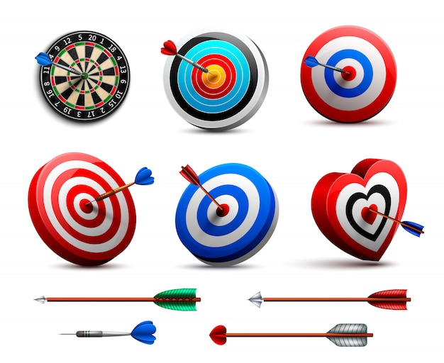 Realistic targets set Free Vector
