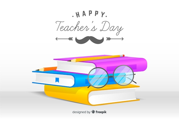 Realistic teachers day background Free Vector