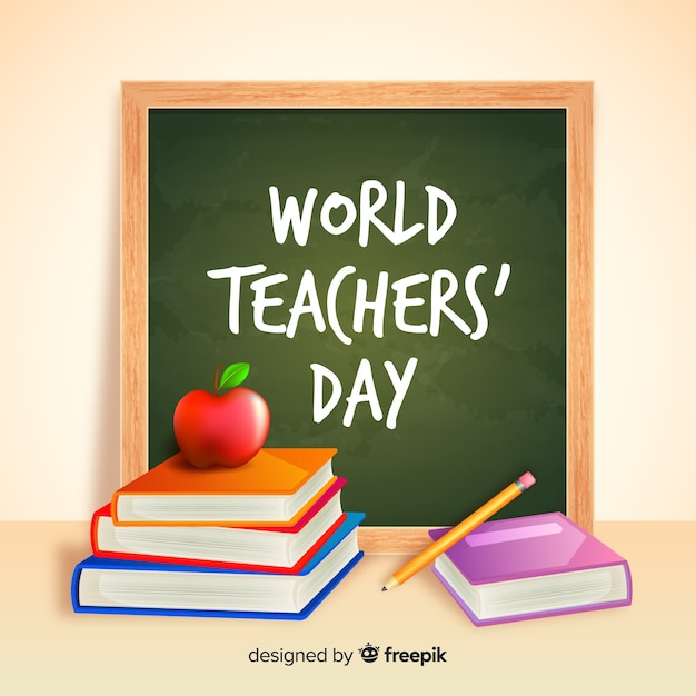 Realistic teachers' day concept Free Vector