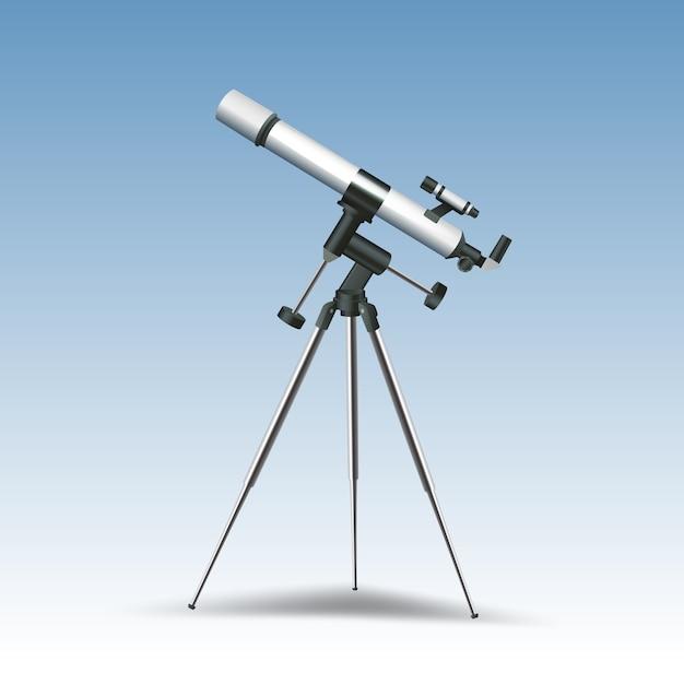 Realistic telescope Free Vector