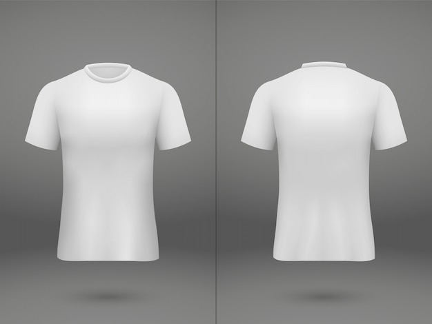 Realistic template soccer jersey t-shirt on shop Premium Vector
