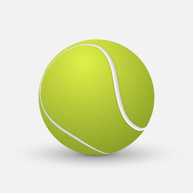 Realistic tennis ball  isolated on white background. Premium Vector