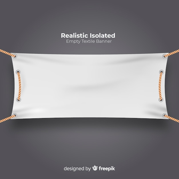 Realistic textile banner Free Vector