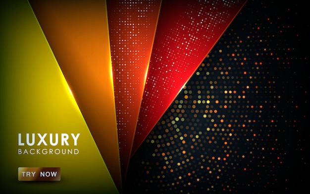 Realistic texture light and glitters background Premium Vector