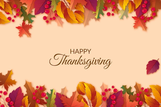 Realistic thanksgiving background Free Vector