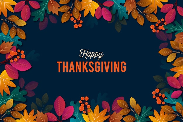 Realistic thanksgiving  background Premium Vector