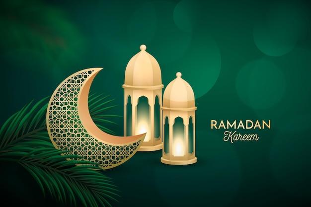 Gambar atau poster ilustrasi Ramadhan