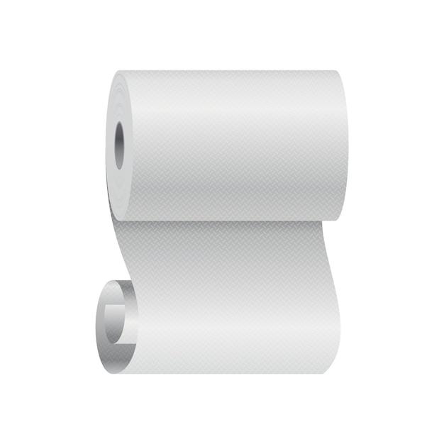 Реалистичный шаблон рулона туалетной бумаги или кухонного полотенца Premium векторы