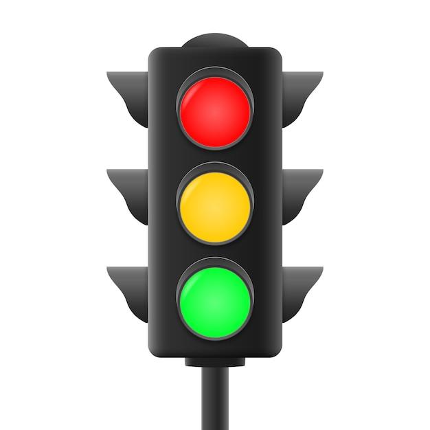Realistic traffic lights Premium Vector