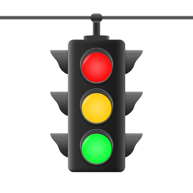 Realistic traffic lights Premium Vector