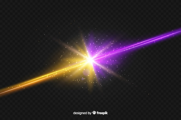 Realistic two forces light effect background Free Vector