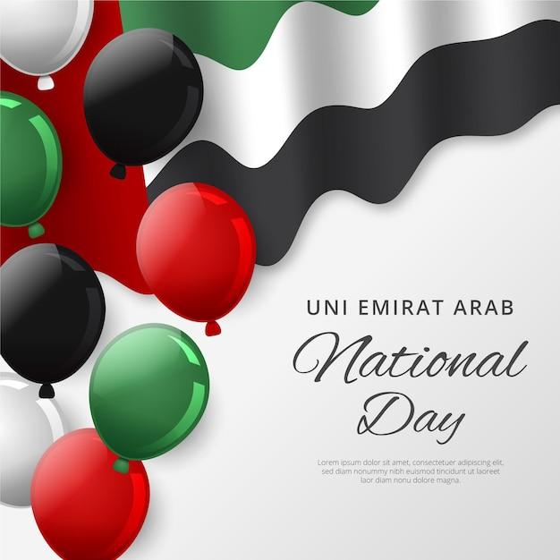 Реалистичный национальный день объединенных арабских эмиратов Premium векторы