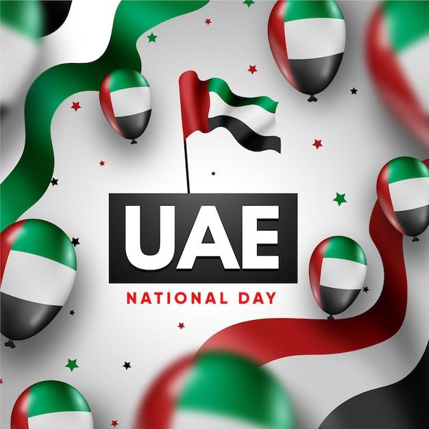 Giornata nazionale realistica degli emirati arabi uniti Vettore gratuito