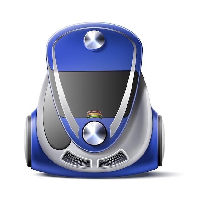 Realistic vacuum cleaner body 3d icon Premium Vector