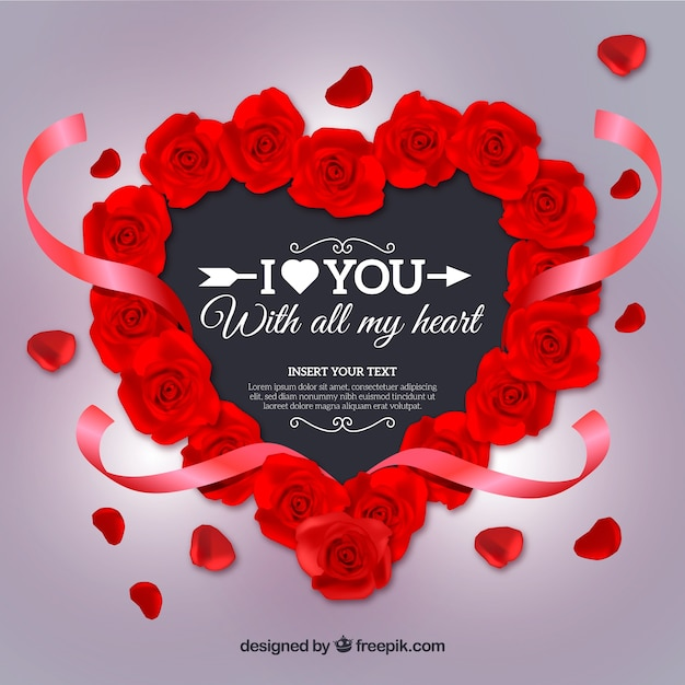 Realistic Valentine S Day Background Vector Free Download