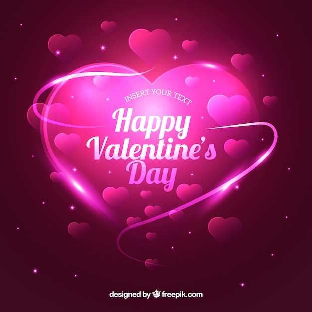 Realistic valentine\'s day background Vector | Free Download