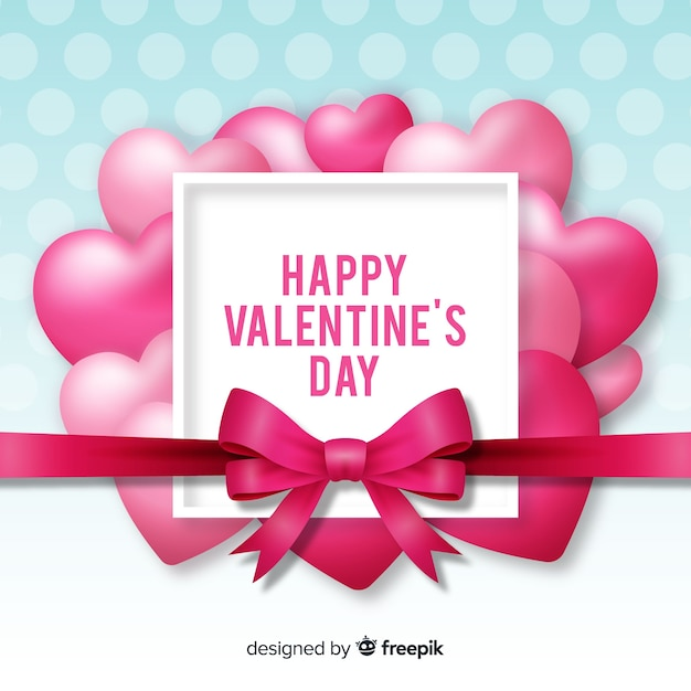 Realistic valentine's day background Free Vector
