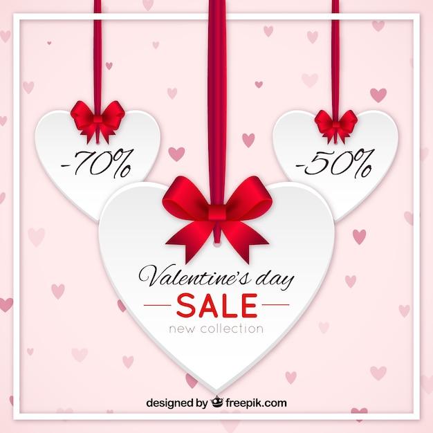 Realistic valentine\'s day sale