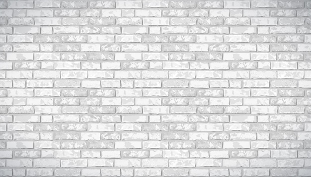 Реалистичные вектор кирпичной стены узор горизонтальный фон Premium векторы