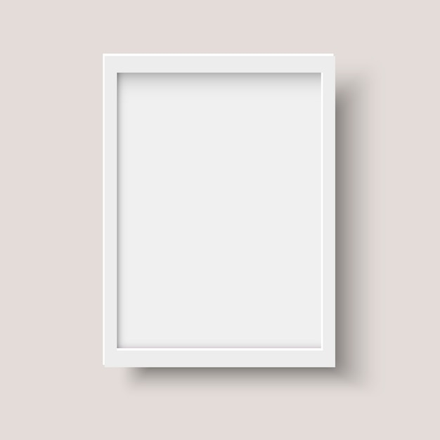 Realistic vertical blank picture frame Premium Vector