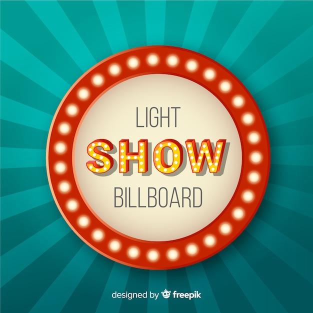 Realistic vintage light billboard Free Vector