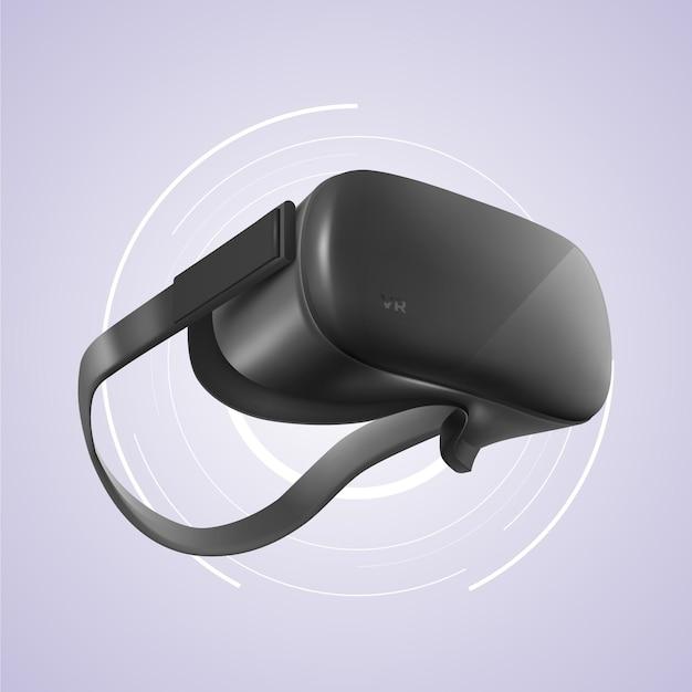 Реалистичная виртуальная гарнитура для дополненной реальности Бесплатные векторы